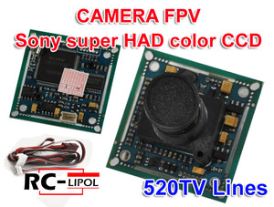 KAMERA FPV 1/3 SONY super HAD color CCD 520L