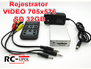 Rejestrator Video DVR 704x576 SD 32Gb nagrywarka wideo DVR SD